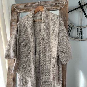 Loft Chunky Cable Open Cardigan